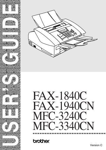 Brother FAX-1840C - User's Guide