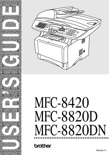 Brother MFC-8420 - User's Guide