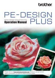 Brother PE-DESIGN PLUS - Instruction Manual