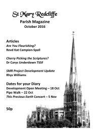 St Mary Redcliffe Church Parish Magazine - October 2016