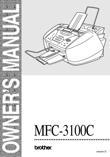 Brother MFC-3100C - User's Guide