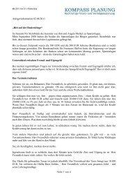 Seite 1 von 4 Anlegerinformation 02.08.2011 - Kompass Planung