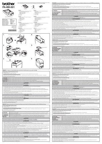 Brother TD-2130N - Quick Setup Guide (Battery Base)