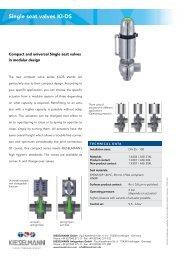 Single seat valves KI-DS - Kieselmann GmbH