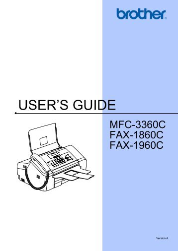 Brother FAX-1860C - User's Guide