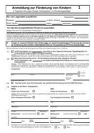 Anmeldung zur Förderung von Kindern  - Berlin.de