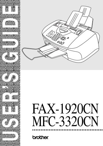Brother FAX-1920CN - User's Guide