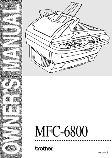 Brother MFC-6800 - User's Guide