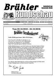 Ferienprogramm 2010 - Gemeinde Brühl