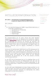 MITGLIEDERINFORMATION - SOMM