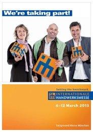 We're taking part! - Internationale Handwerksmesse