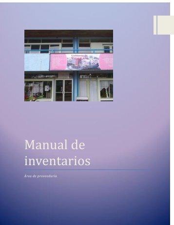 Manual de inventario proveeduria