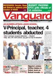 AS GUNMEN ATTACK LAGOS SCHOOL: V-Principal, teacher, 4 students abducted