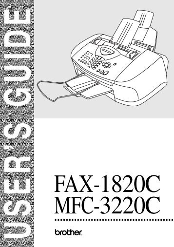 Brother FAX-1820C - User's Guide