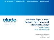 Academic Paper Contest Regional Integration with Renewable Energy