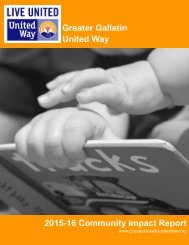 Greater Gallatin United Way 2015-16 Community Impact Report