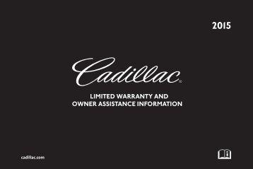 Cadillac 2015 ATS SEDAN - Limited Warranty Brochure