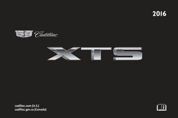 Cadillac 2016 XTS SEDAN - OWNER MANUAL