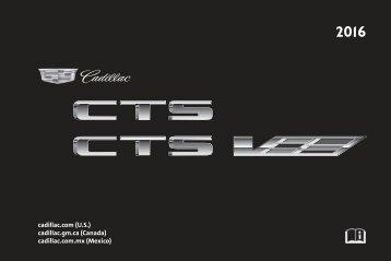 Cadillac 2016 CTS-V SEDAN - OWNER MANUAL