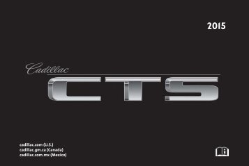 Cadillac 2015 CTS SEDAN - OWNER MANUAL