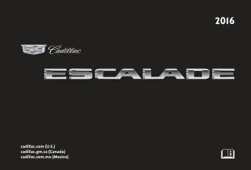Cadillac 2016 ESCALADE / ESV - OWNER MANUAL