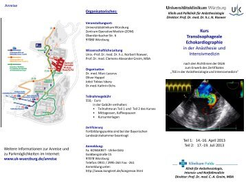 Kurs Transösophageale Echokardiographie in der ... - kongkret