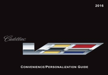 Cadillac 2016 ATS-V SEDAN - V-SERIES PERSONALIZATION GUIDE