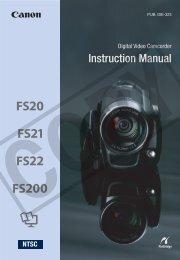 Canon FS20 - FS20 Instruction Manual