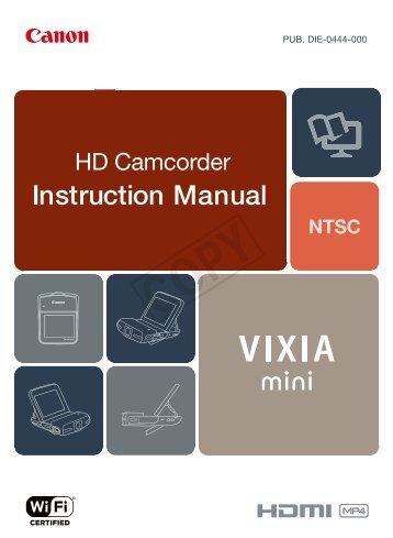 Canon VIXIA mini - VIXIA mini Instruction Manual