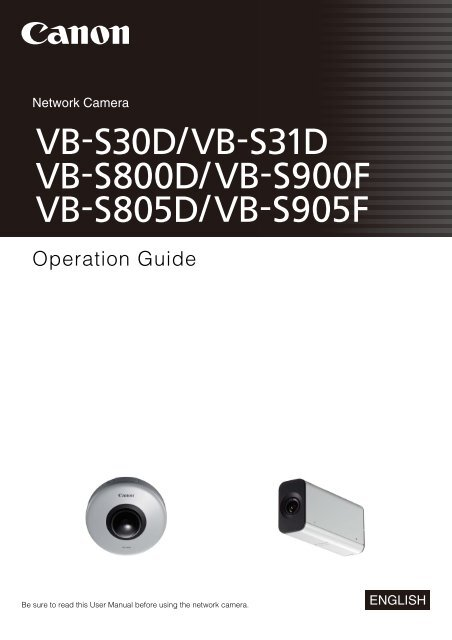 Canon VB-S31D Network Camera Drivers for Windows