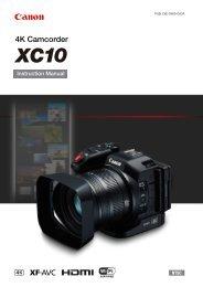 Canon XC10 - XC10 Instruction Manual