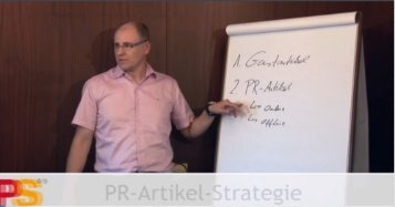 PR-Artikel-Strategie - PreSales Marketing!