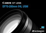 Canon EF 70-200mm f/4L USM - EF 70-200mm f/4L USM Instruction Manual