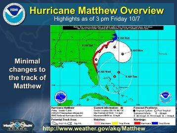 Hurricane Matthew Overview