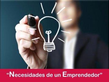 """""""Necesidades Emprendedor"""""""