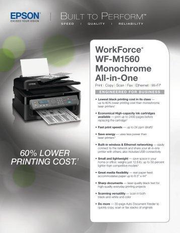 Epson Epson WorkForce WF-M1560 Monochrome Multifunction Printer - Product Specifications