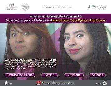 Programa Nacional de Becas 2016