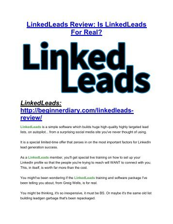 LinkedLeads reviews Review-MEGA $22,400 Bonus & 65% DISCOUNT