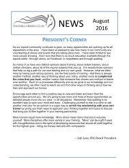 October 2016 FRC Member Newsletter