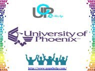University Of Phoenix Final Exam Solutions at Uopehelp.com