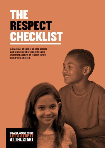 THE RESPECT CHECKLIST