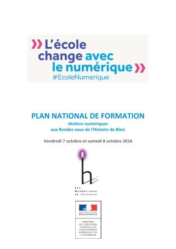 PLAN NATIONAL DE FORMATION