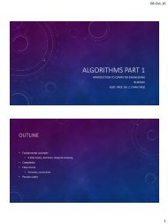 ALGORITHMS PART 1