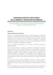 ORDENANZA MUNICIPAL REGULADORA DE LA TENENCIA Y PROTECCION DE ANIMALES