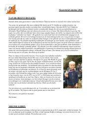 Nieuwsbrief oktober 2016 VAN DE BESTUURSTAFEL NIEUWE LEDEN