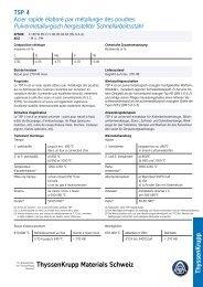 TSP 4 - Thyssenkrupp Materials Schweiz