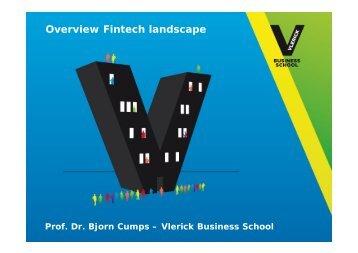Overview Fintech landscape