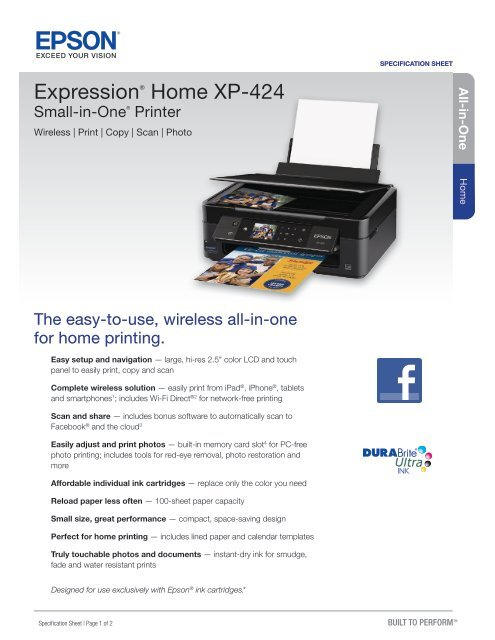 Epson Epson Expression Home XP-424 Small-in-One®