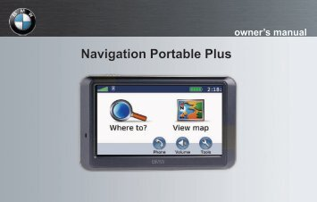 Garmin BMW Portable Navigation System Plus (710) - Owner's Manual