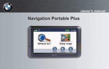 Garmin BMW Portable Navigation System Plus (710) - Owner's Manual